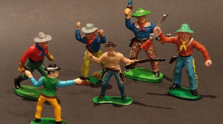 Western Retro Cowboy Figurák/Párban