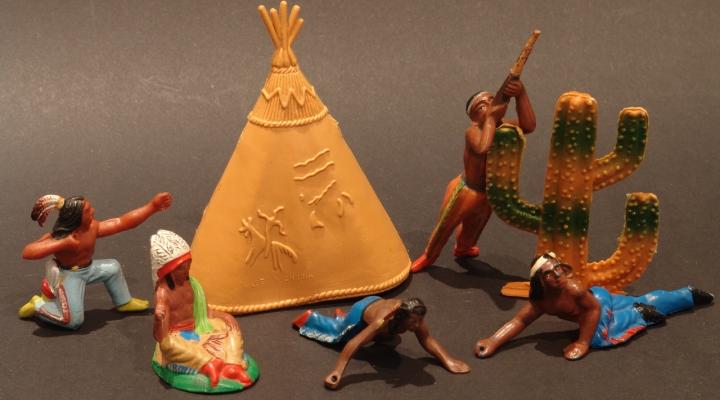 Western Retro Indián Figurák/Párban