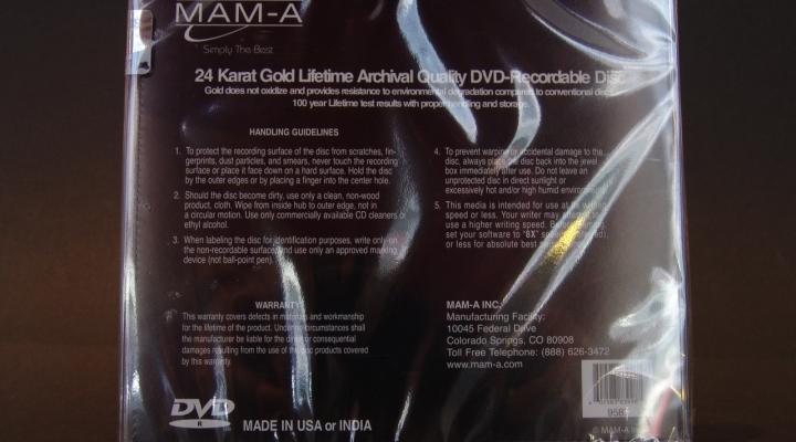 MAM-A Gold DVD-R 4,7G