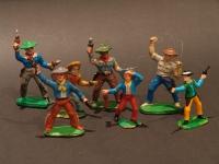 Western Retro Cowboy Figures/Pair